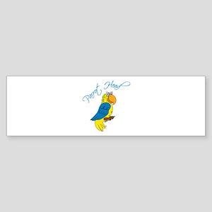 Parrot Head Bumper Sticker