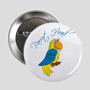 "Parrot Head 2.25"" Button"