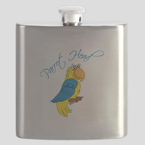 Parrot Head Flask