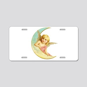 Pink Moon Angel Aluminum License Plate
