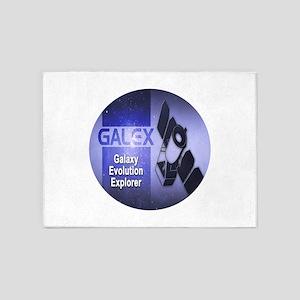 Galaxy Evolution Explorer Logo 5'x7'Area Rug