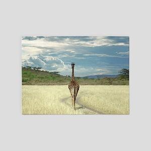 African Giraffe 5'x7'Area Rug