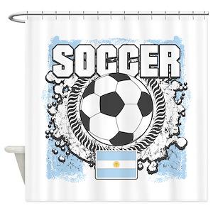Argentina Soccer Team Shower Curtains