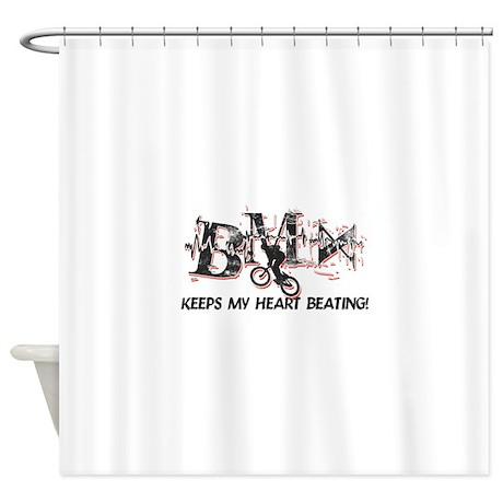 BMX Keeps My Heart Beating Shower Curtain