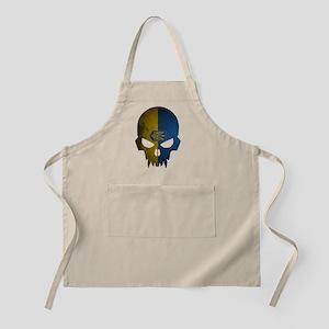 Ukraine Flag Skull Apron