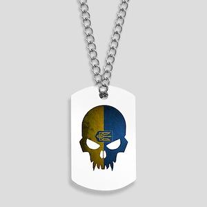 Ukraine Flag Skull Dog Tags