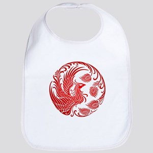 Traditional Red Phoenix Circle Bib