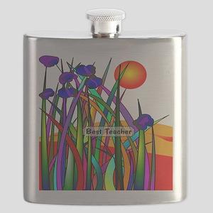 Best Teacher Artsy Large Flask
