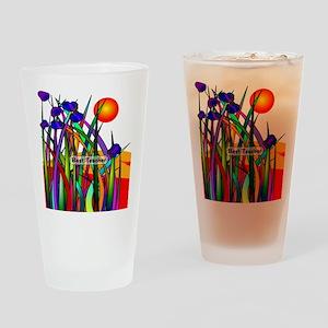 Best Teacher Artsy Large Drinking Glass