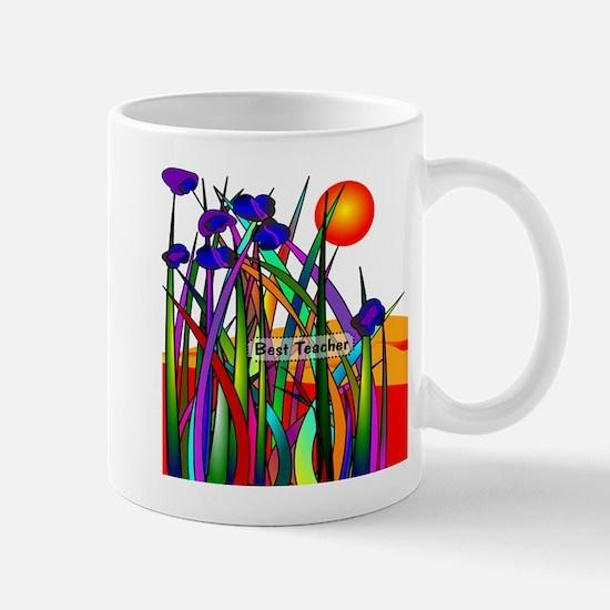 Best Teacher Artsy Large Mugs