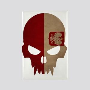 Polish Flag Skull Rectangle Magnet