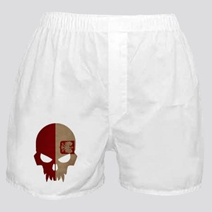 Polish Flag Skull Boxer Shorts