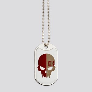 Polish Flag Skull Dog Tags