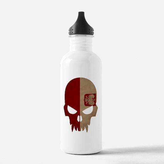 Polish Flag Skull Water Bottle