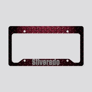 Silverado Diamond Plate License Plate Holder