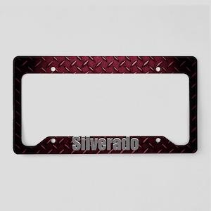 Silverado Diamond Plate License Plate Holder