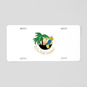 Five OClock Aluminum License Plate