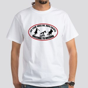 Arizona Team Roper White T-Shirt