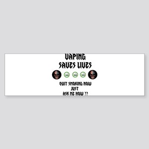 Vape to live Live to Vape Bumper Sticker