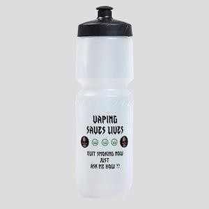 Vape to live Live to Vape Sports Bottle