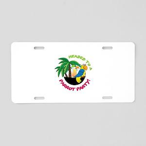 Parrot Party! Aluminum License Plate