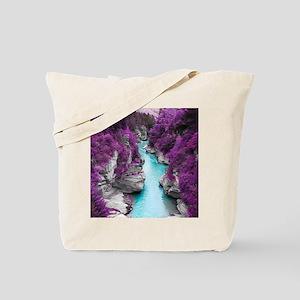 Purple Cliffs Tote Bag