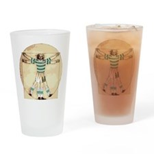 vitruvian celt Drinking Glass
