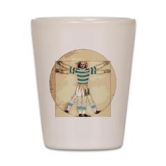 vitruvian celt Shot Glass
