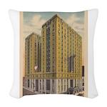 Mayflower Hotel Woven Throw Pillow