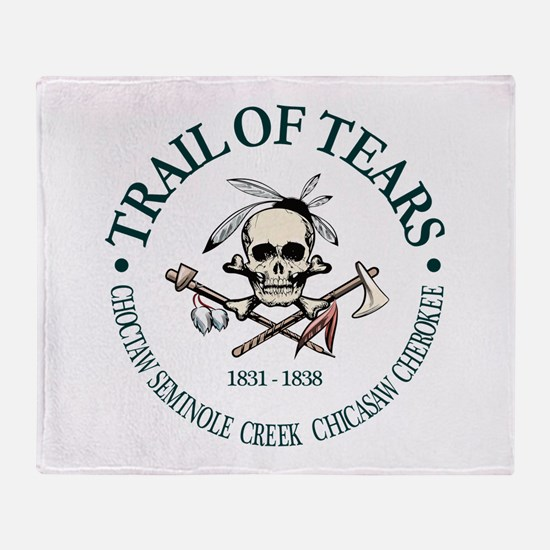 Trail of Tears Throw Blanket