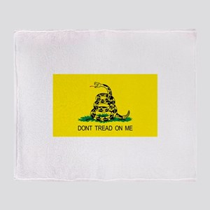 dont tread on me gifts Throw Blanket