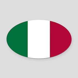 Italy Flag Italian Flag Oval Car Magnet