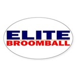 Elite Broomball Oval Sticker