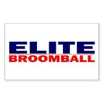 Elite Broomball Rectangle Sticker