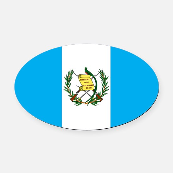 guatemalan Flag gifts Oval Car Magnet