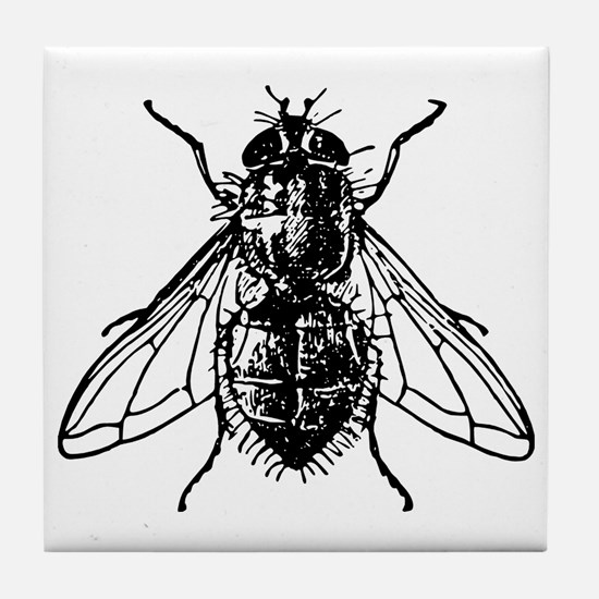 Funny Housefly Tile Coaster
