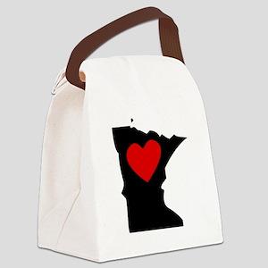 Minnesota Heart Canvas Lunch Bag