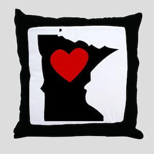Minnesota Heart Throw Pillow