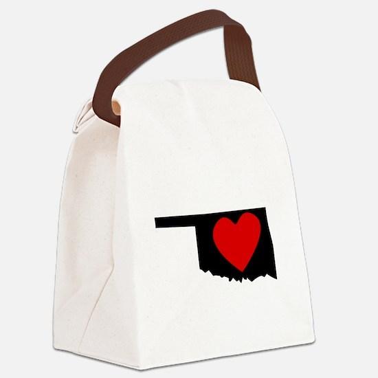 Oklahoma Heart Canvas Lunch Bag