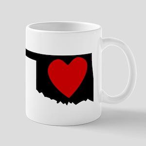 Oklahoma Heart Mugs