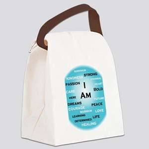 I am Turquoise! Canvas Lunch Bag