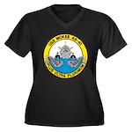 USS McKEE Women's Plus Size V-Neck Dark T-Shirt
