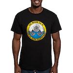 USS McKEE Men's Fitted T-Shirt (dark)