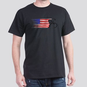 TrackCyclingDesign USA Black T-Shirt