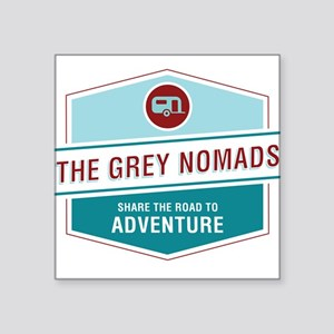 "Grey Nomads Square Sticker 3"" x 3"""