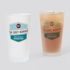 Grey Nomads Drinking Glass