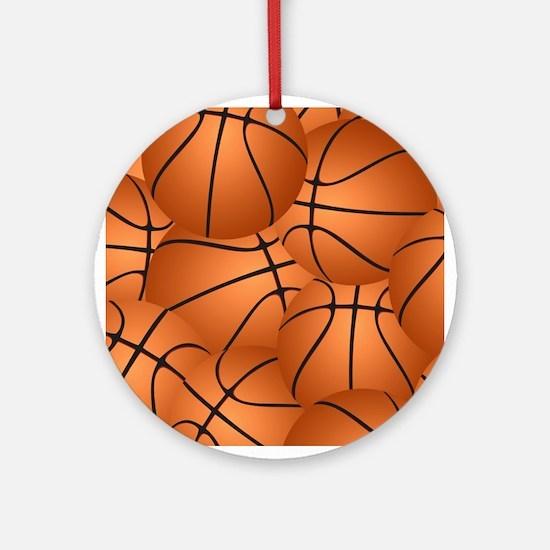 Basketball ball pattern Ornament (Round)