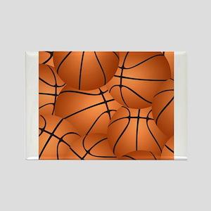 Basketball ball pattern Magnets