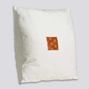Basketball ball pattern Burlap Throw Pillow