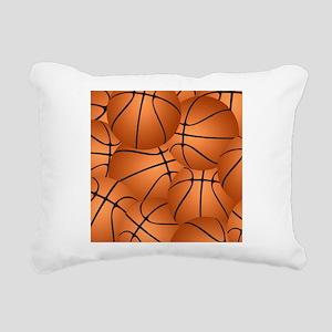 Basketball ball pattern Rectangular Canvas Pillow